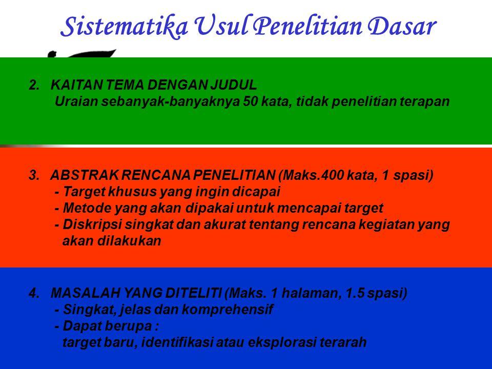Sistematika Usul Penelitian Dasar