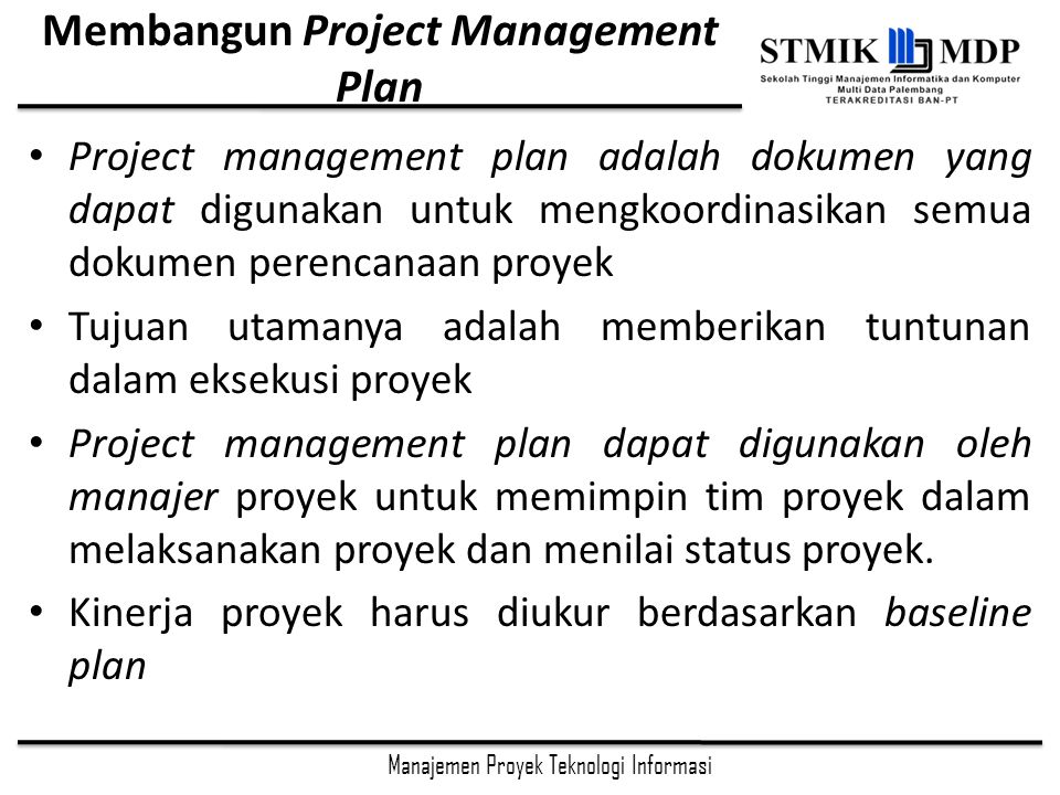 Membangun Project Management Plan