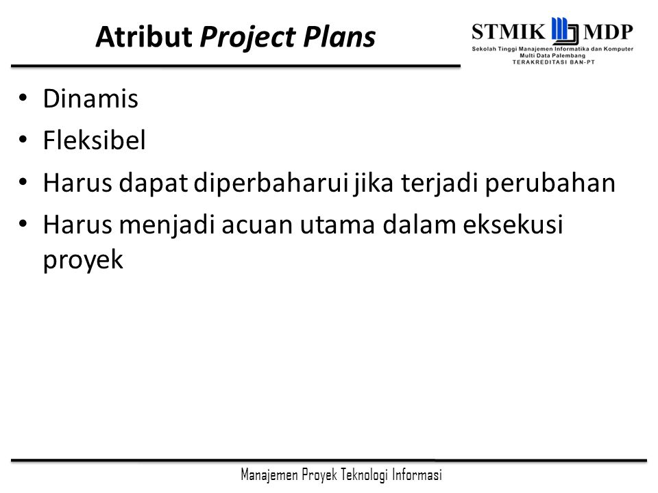 Atribut Project Plans Dinamis Fleksibel