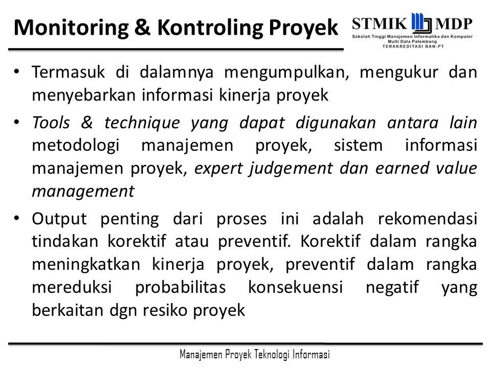 Monitoring & Kontroling Proyek