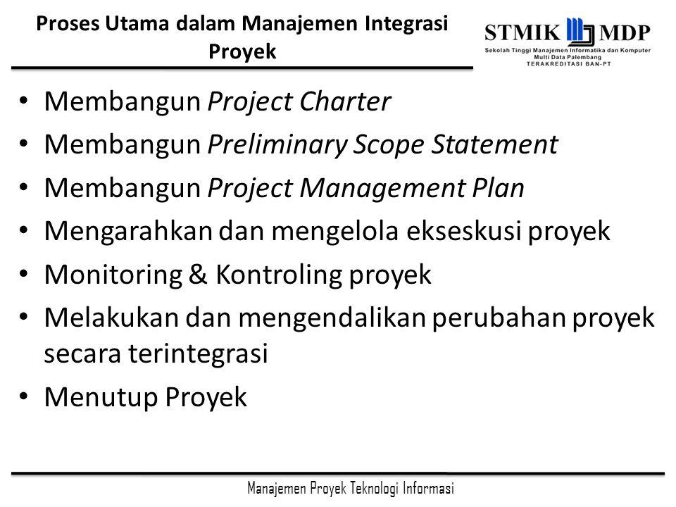 Proses Utama dalam Manajemen Integrasi Proyek