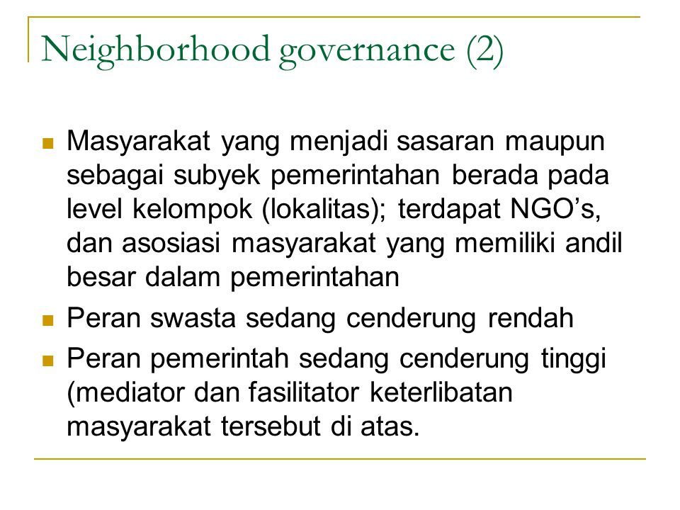 Neighborhood governance (2)