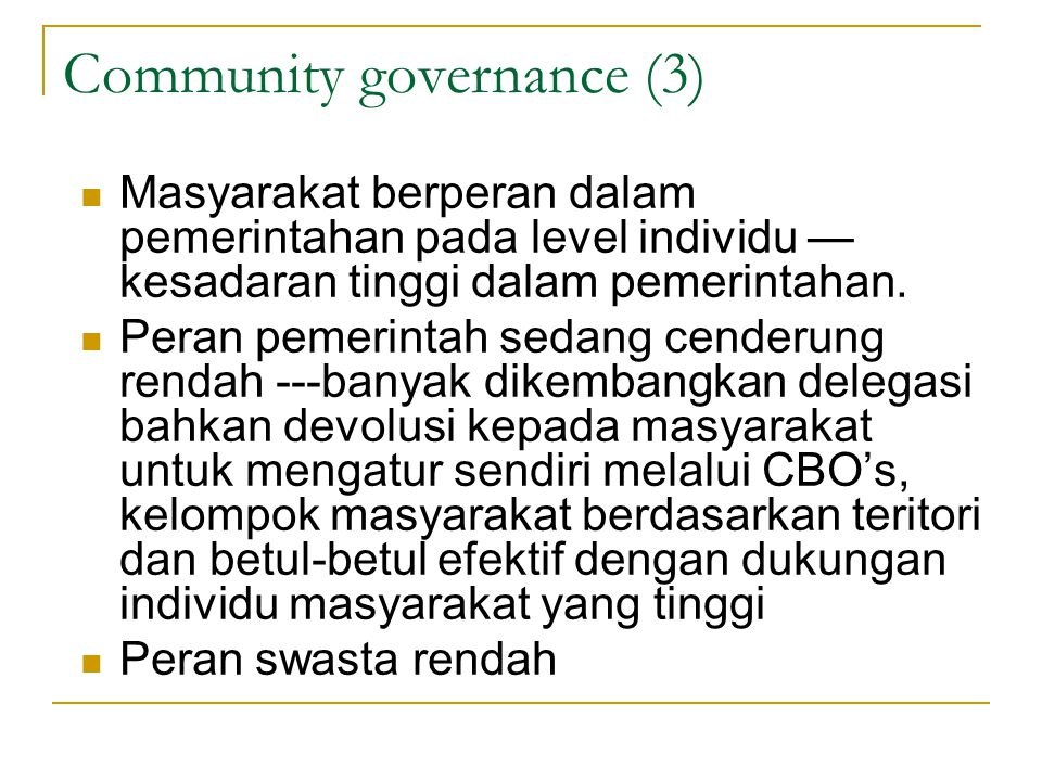 Community governance (3)