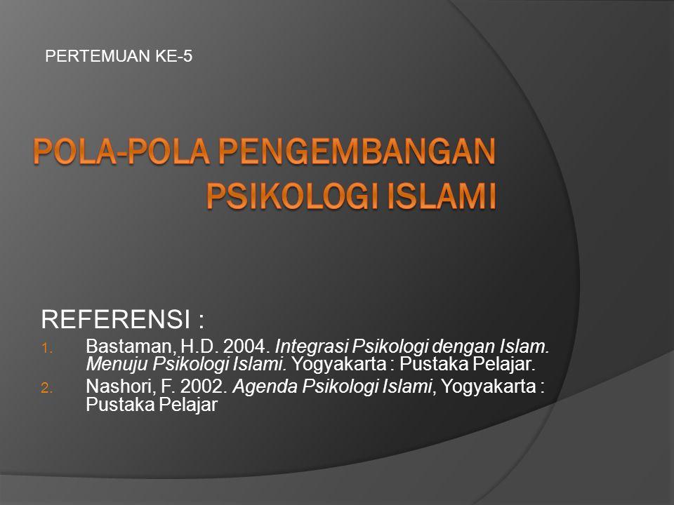 POLA-POLA PENGEMBANGAN PSIKOLOGI ISLAMI