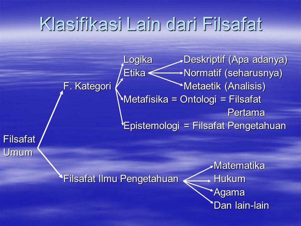 Klasifikasi Lain dari Filsafat