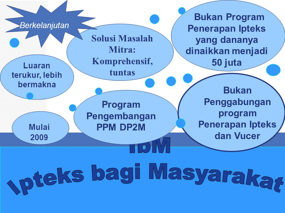 IbM Ipteks bagi Masyarakat