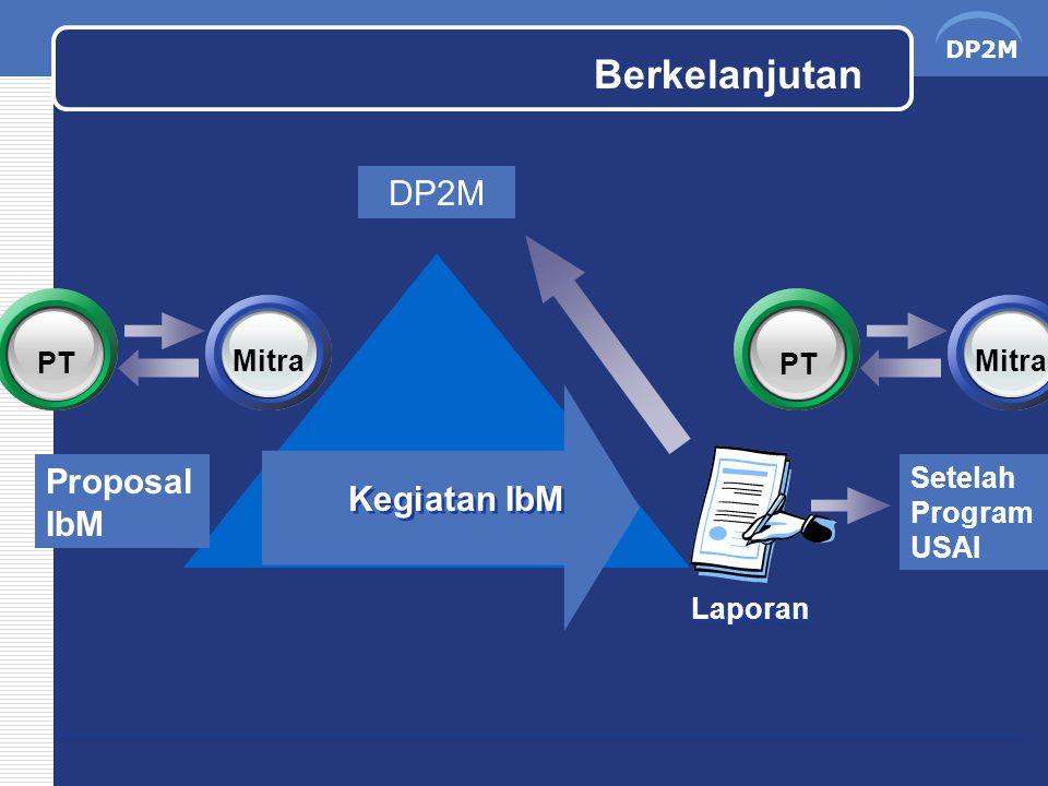 Berkelanjutan DP2M Proposal IbM Kegiatan IbM PT Mitra PT Mitra