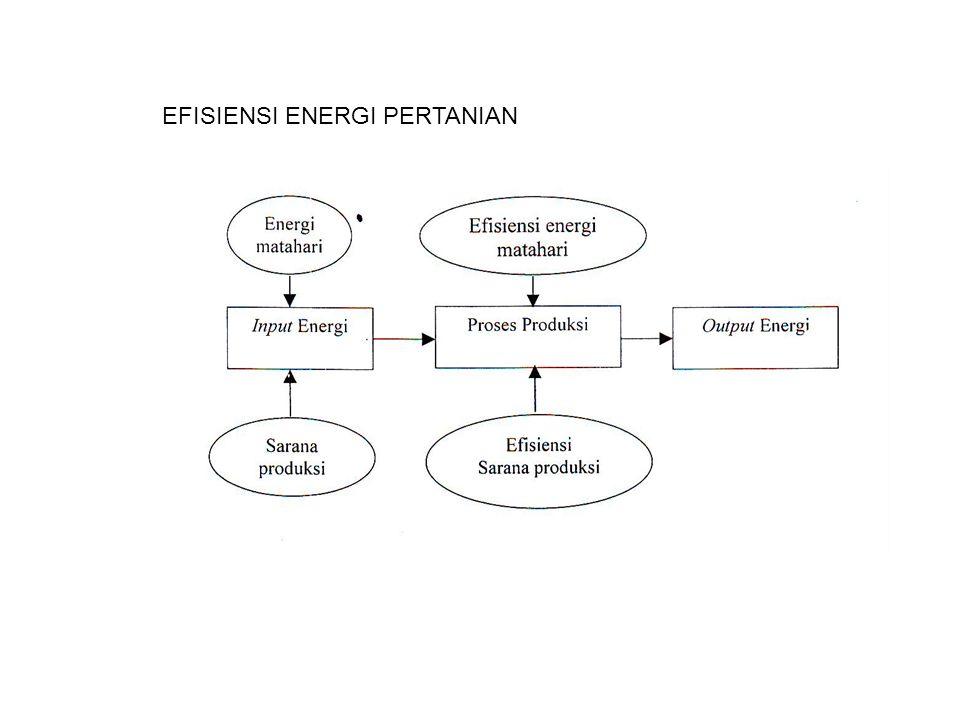 EFISIENSI ENERGI PERTANIAN