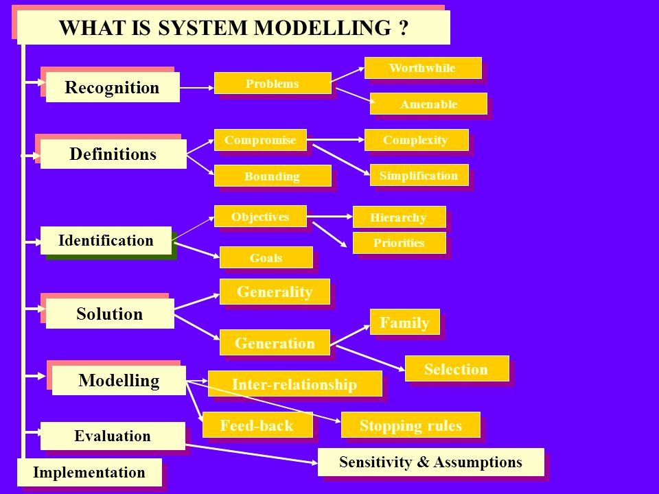 WHAT IS SYSTEM MODELLING Sensitivity & Assumptions