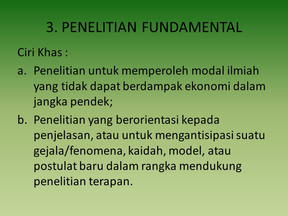 3. PENELITIAN FUNDAMENTAL
