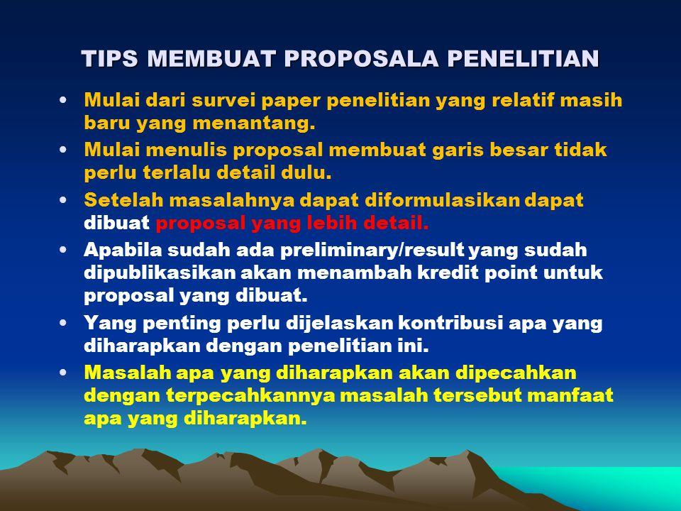 TIPS MEMBUAT PROPOSALA PENELITIAN