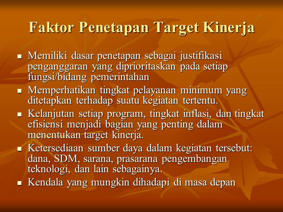 Faktor Penetapan Target Kinerja