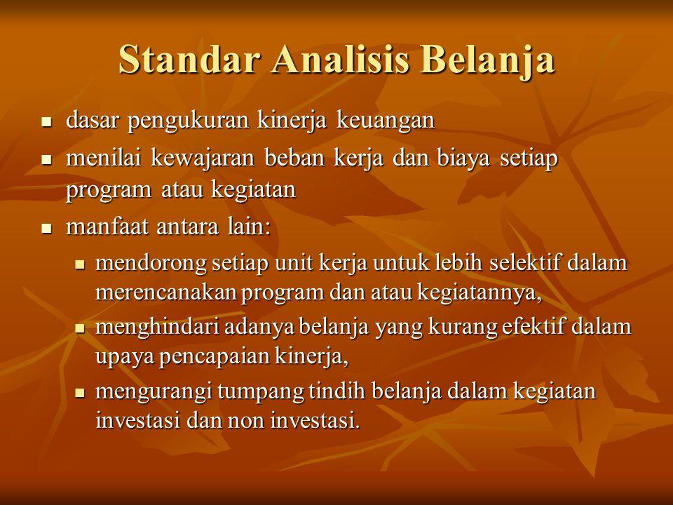 Standar Analisis Belanja