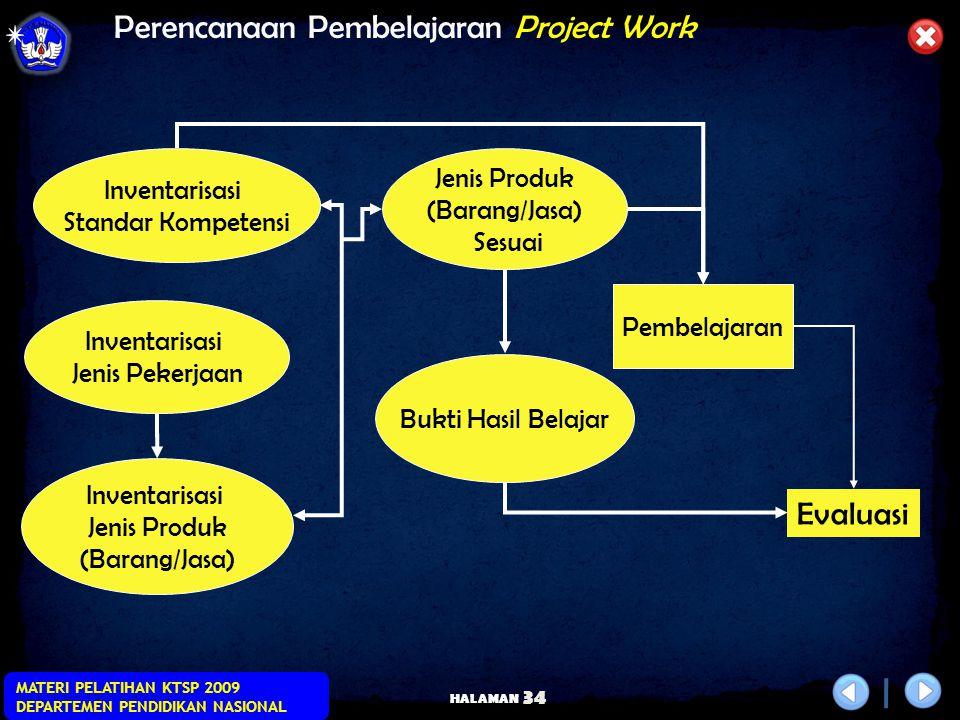 Perencanaan Pembelajaran Project Work