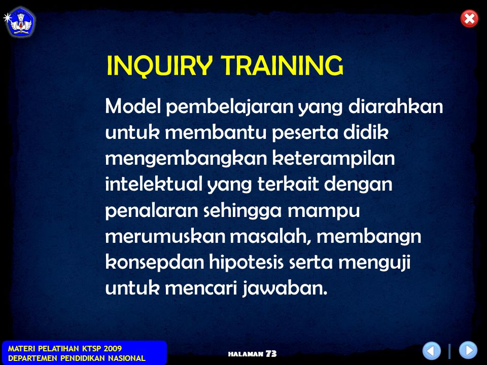 INQUIRY TRAINING