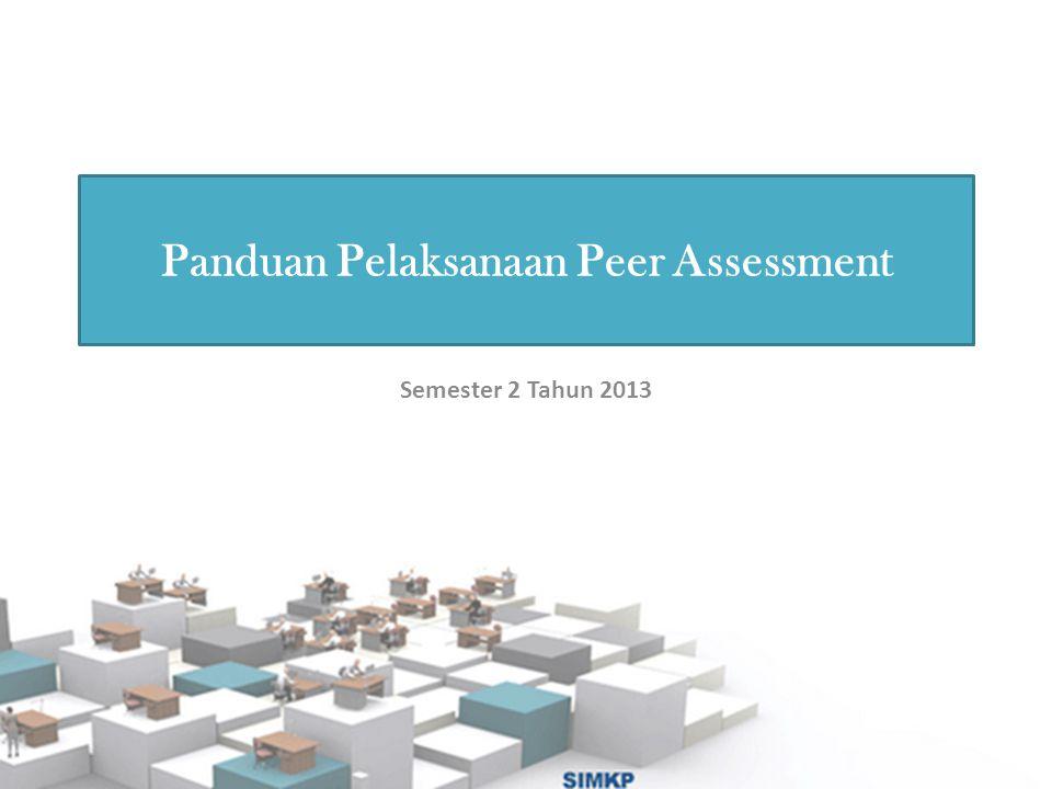 Panduan Pelaksanaan Peer Assessment