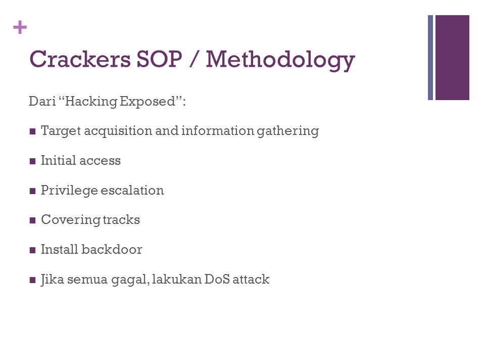 Crackers SOP / Methodology