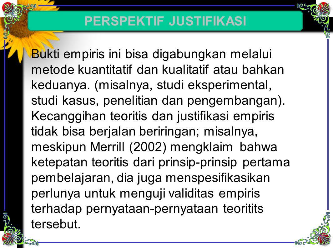 PERSPEKTIF JUSTIFIKASI