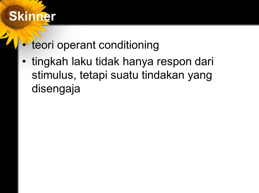 Skinner teori operant conditioning