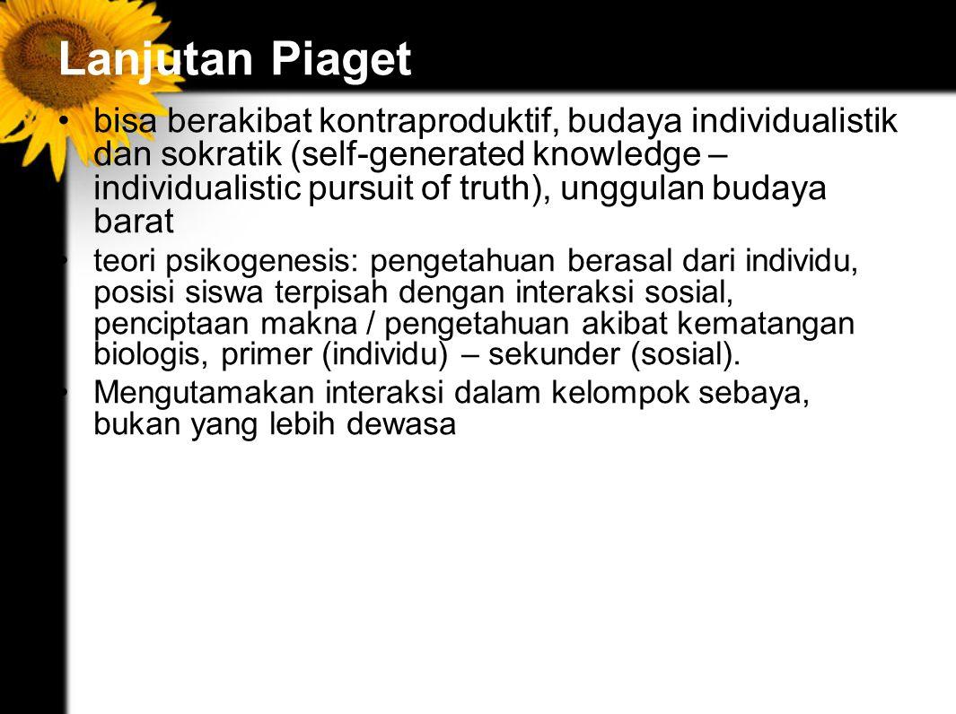 Lanjutan Piaget