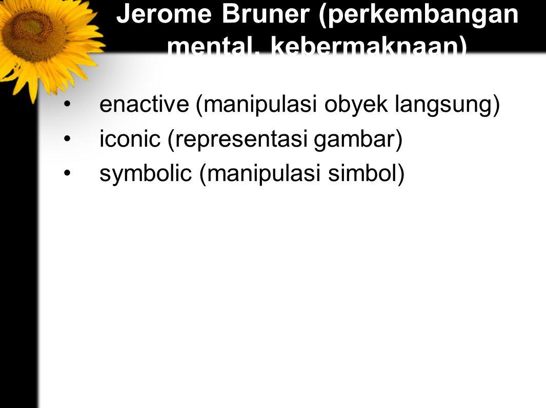 Jerome Bruner (perkembangan mental, kebermaknaan)