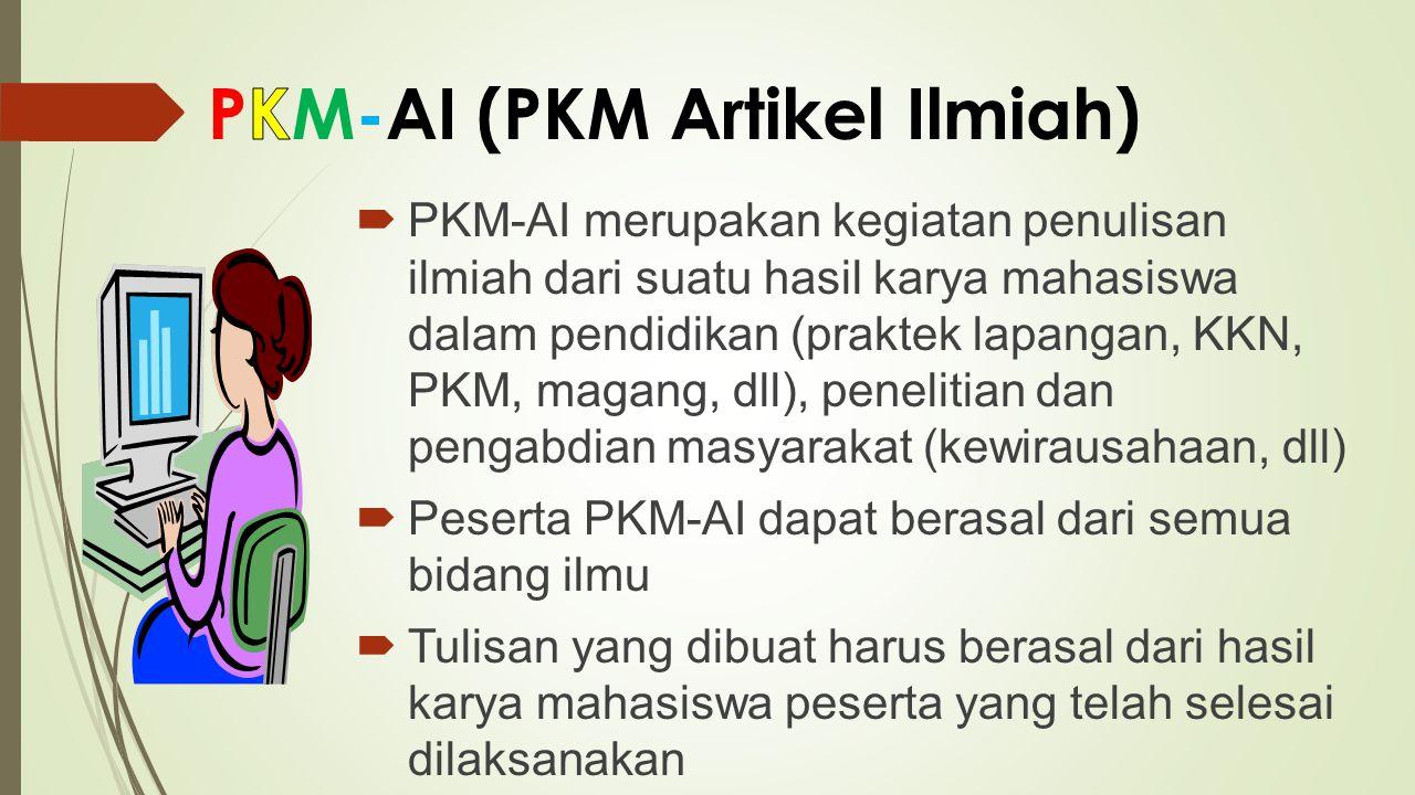 PKM-AI (PKM Artikel Ilmiah)