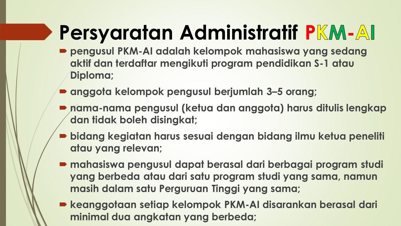 Persyaratan Administratif PKM-AI