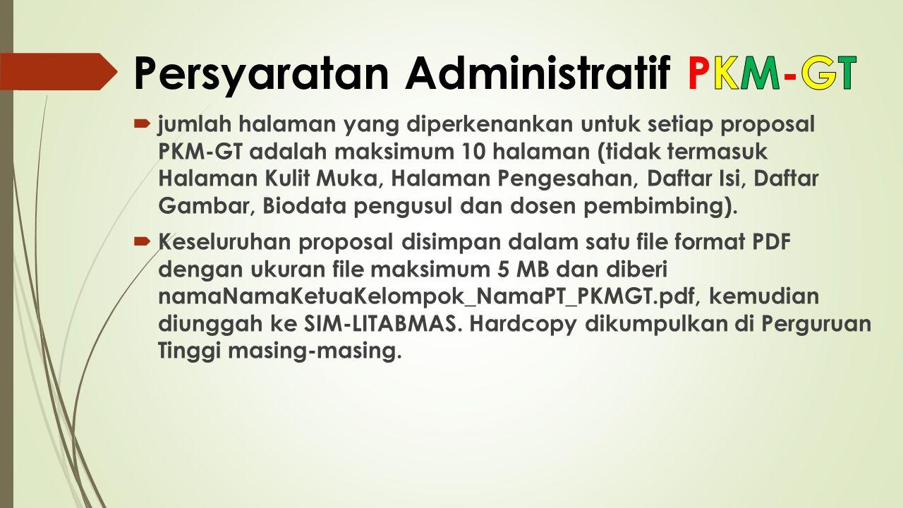Persyaratan Administratif PKM-GT
