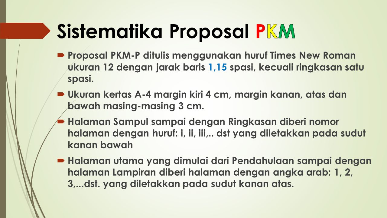 Sistematika Proposal PKM
