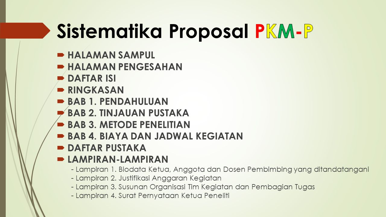 Sistematika Proposal PKM-P