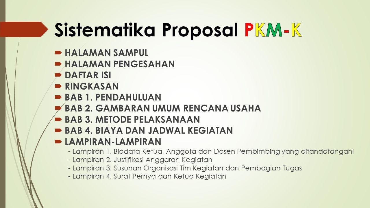 Sistematika Proposal PKM-K