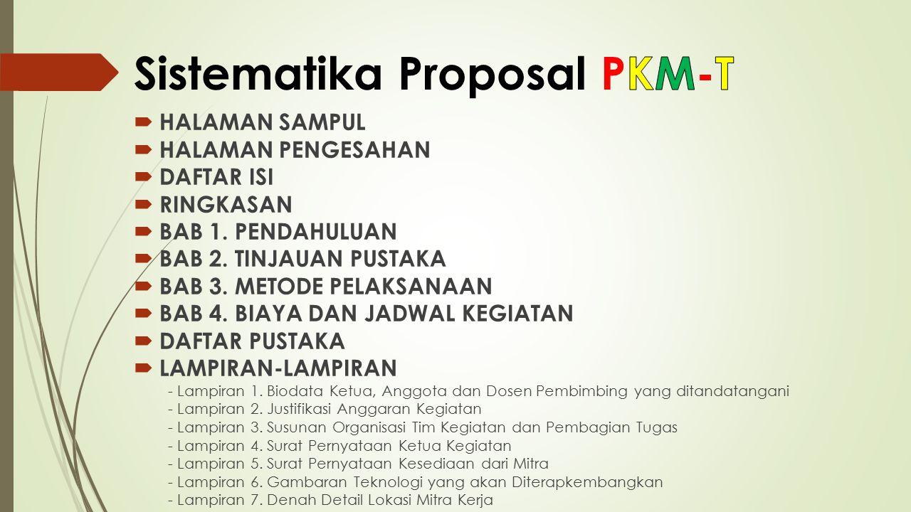 Sistematika Proposal PKM-T