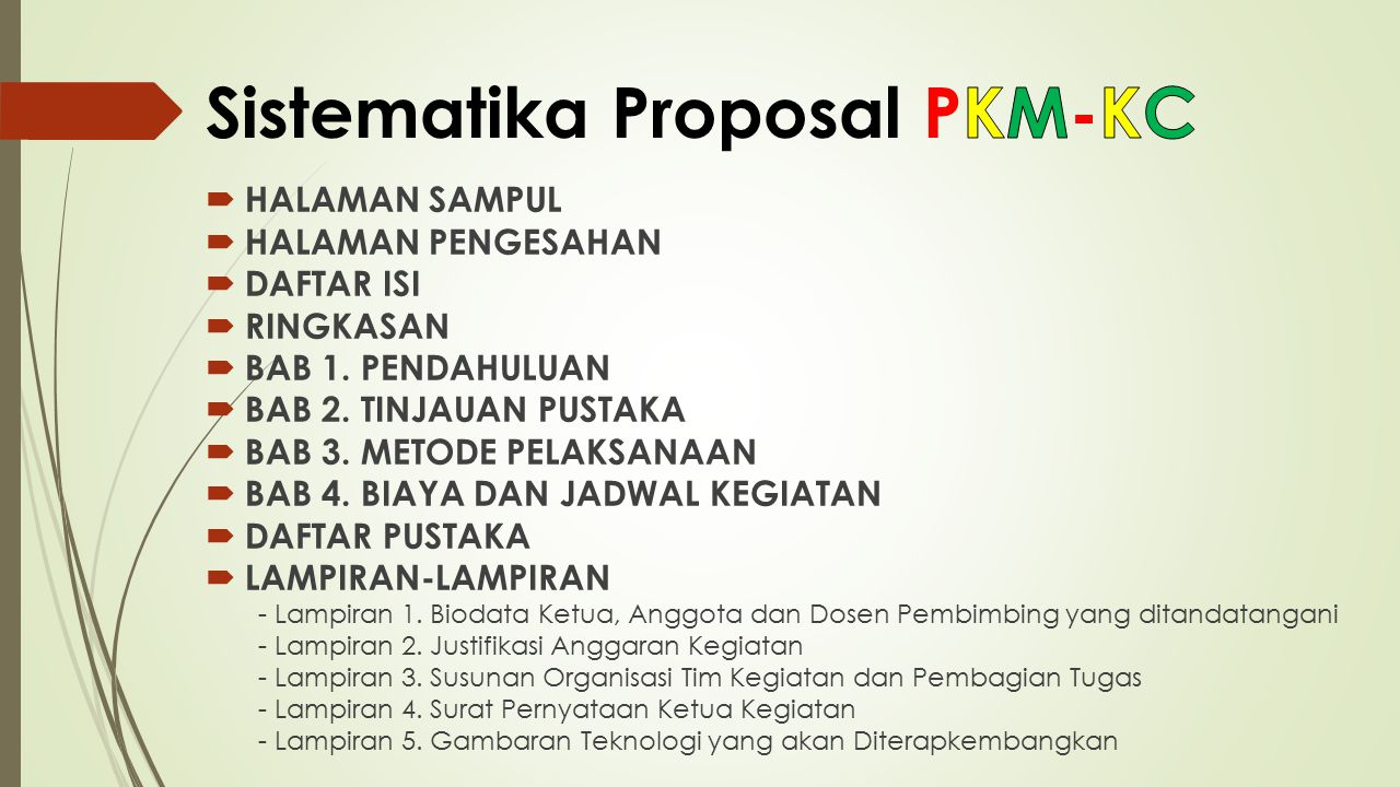 Sistematika Proposal PKM-KC