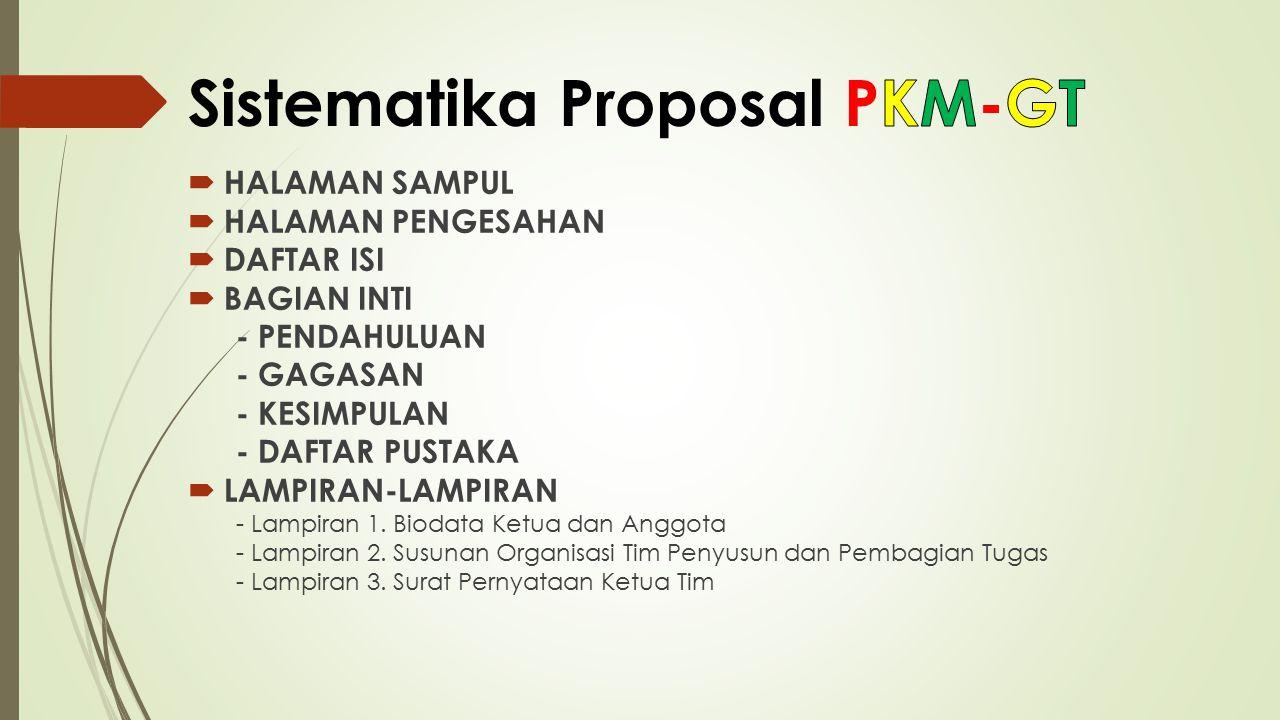 Sistematika Proposal PKM-GT