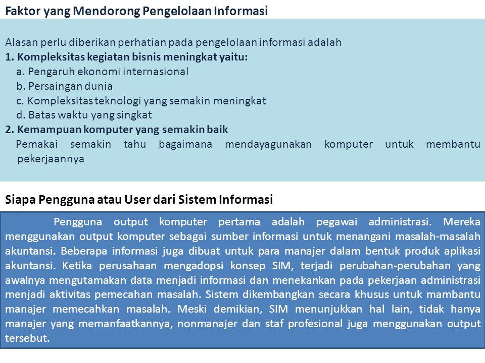 Faktor yang Mendorong Pengelolaan Informasi