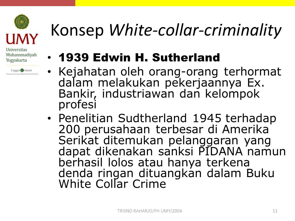 Konsep White-collar-criminality