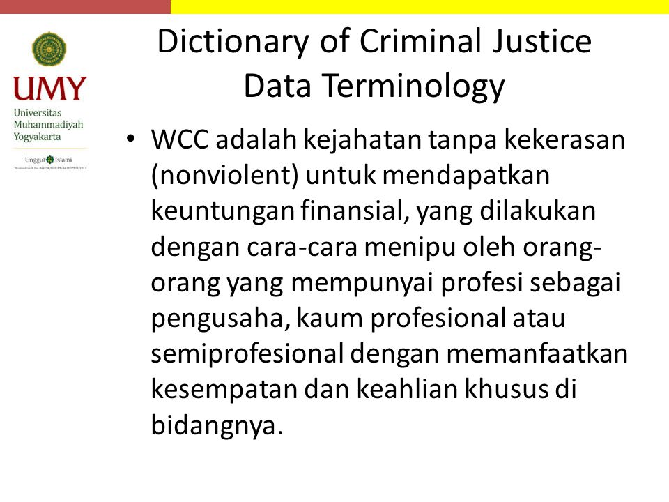 Dictionary of Criminal Justice Data Terminology
