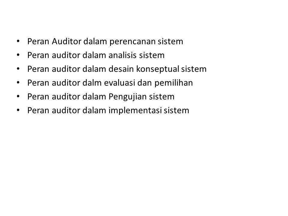 Peran Auditor dalam perencanan sistem