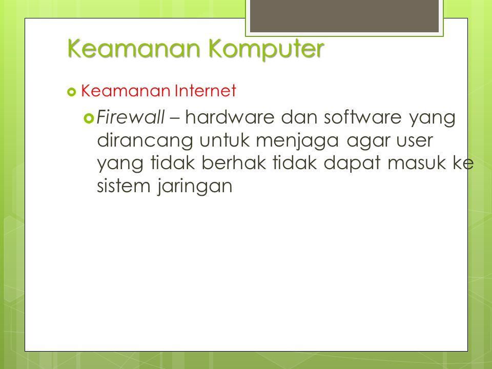 Keamanan Komputer Keamanan Internet.