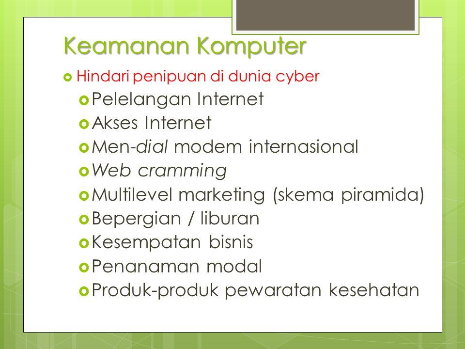 Keamanan Komputer Pelelangan Internet Akses Internet