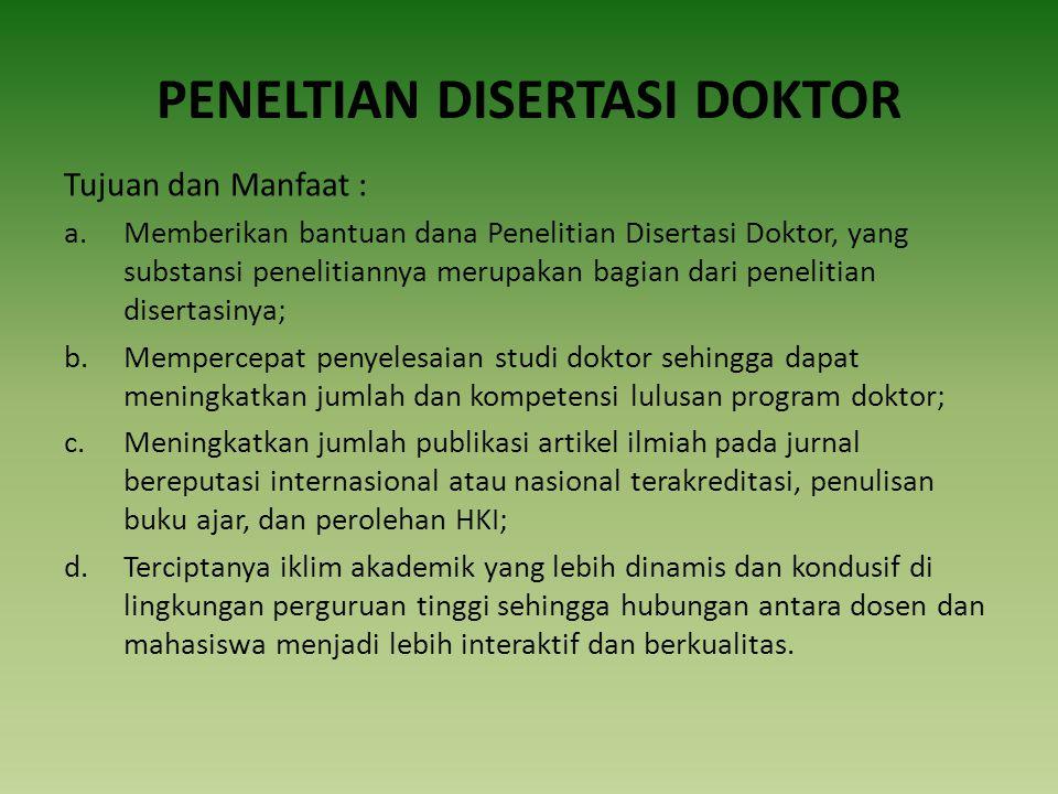 PENELTIAN DISERTASI DOKTOR