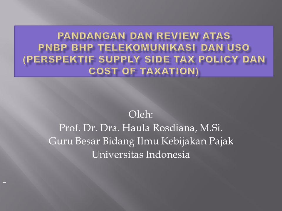 Prof. Dr. Dra. Haula Rosdiana, M.Si.
