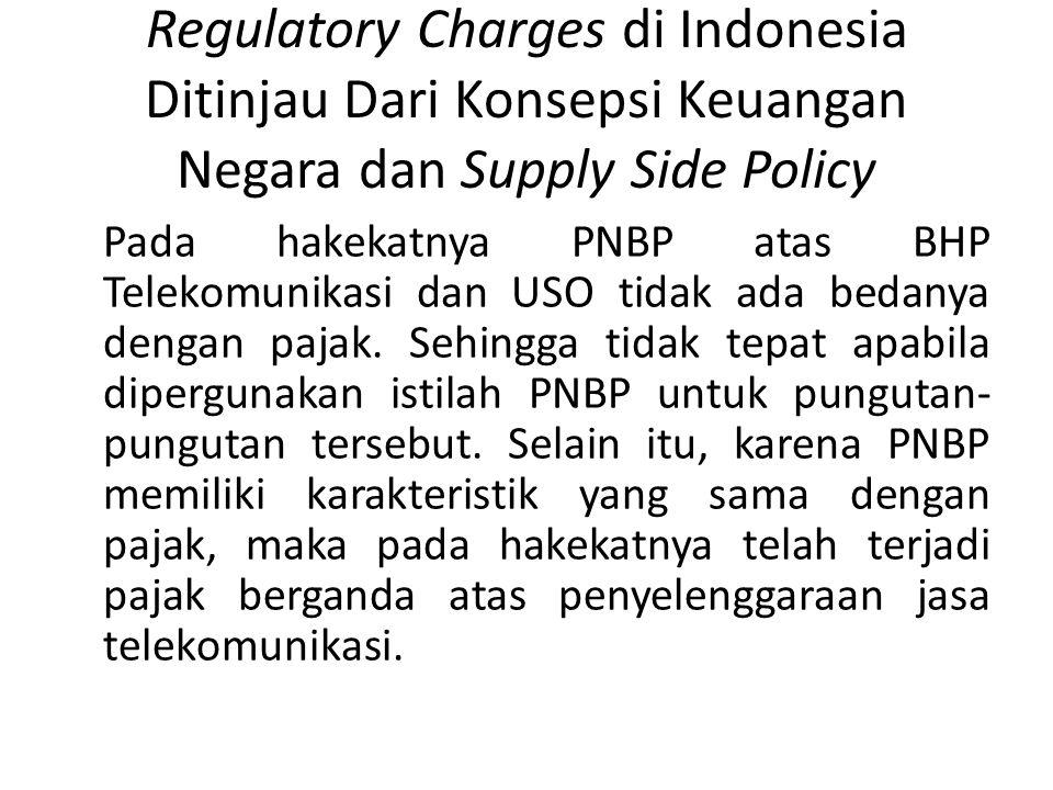 Regulatory Charges di Indonesia Ditinjau Dari Konsepsi Keuangan Negara dan Supply Side Policy