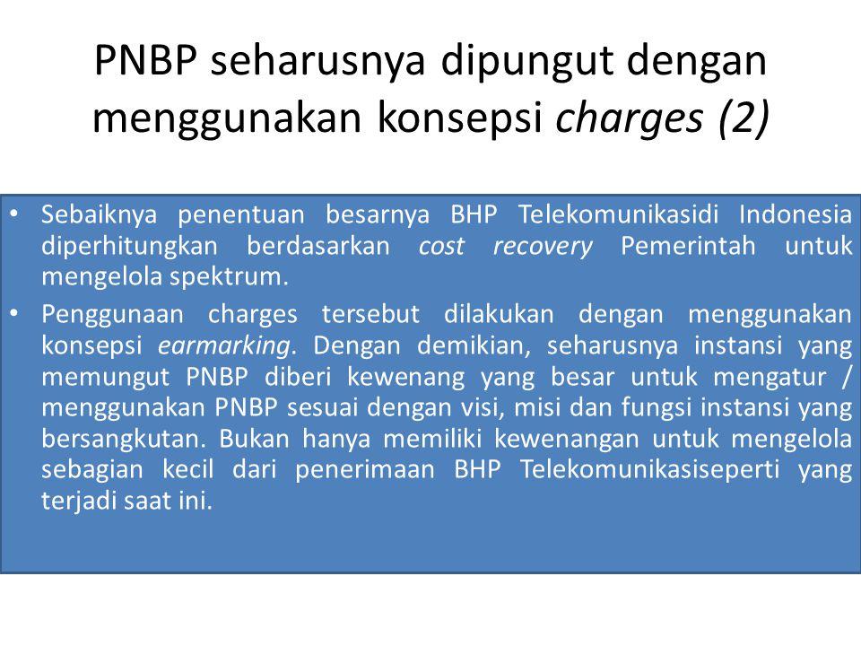 PNBP seharusnya dipungut dengan menggunakan konsepsi charges (2)