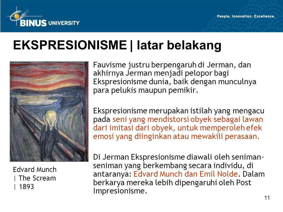 EKSPRESIONISME | latar belakang