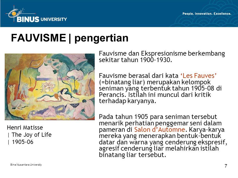 FAUVISME | pengertian Fauvisme dan Ekspresionisme berkembang sekitar tahun 1900-1930.