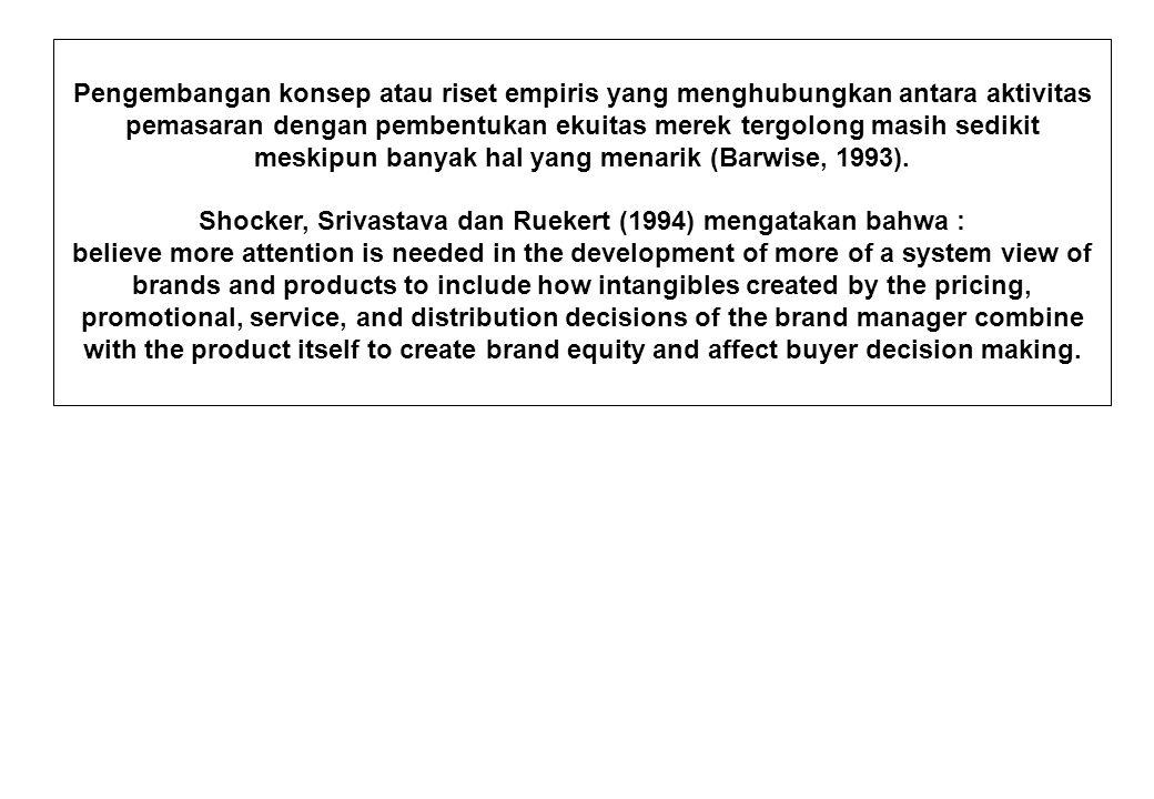 Shocker, Srivastava dan Ruekert (1994) mengatakan bahwa :