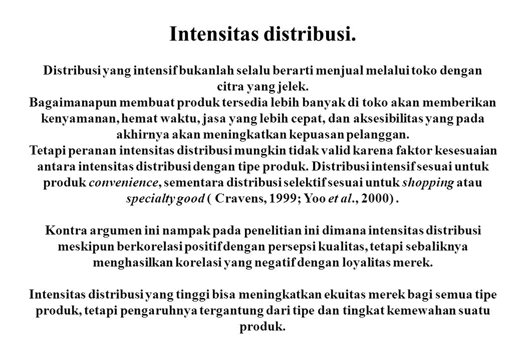Intensitas distribusi.