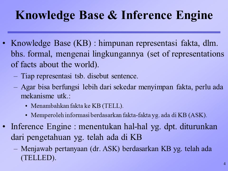 Knowledge Base & Inference Engine