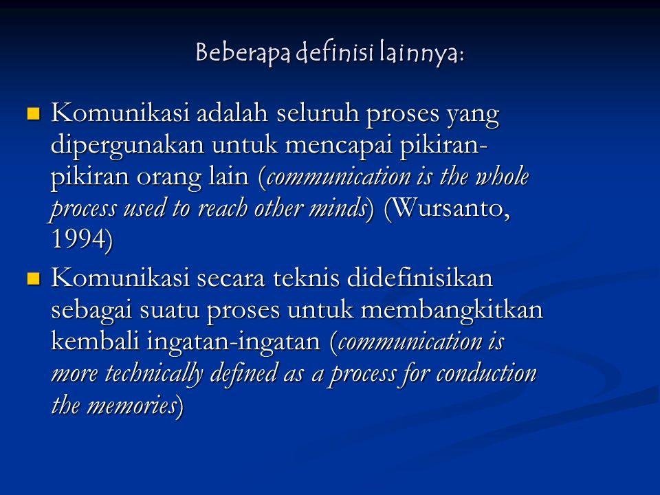 Beberapa definisi lainnya: